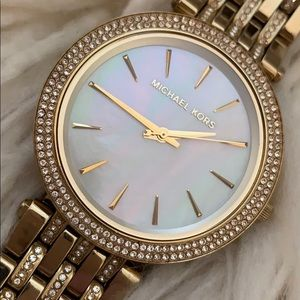 Micheal Kors  Glitz Mother of Pearl Watch
